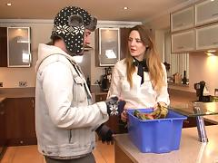 Kitchen, Couple, Doggystyle, Hardcore, Kitchen, Sex