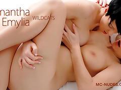 Samantha Jolie & Emylia in Wildcats - MCNudes