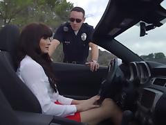 Mature bimbo Bianca receives a screwing instead of a speeding ticket