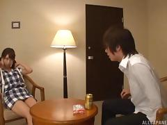 Ayami's got the cowgirl cock riding skills and intends to use them