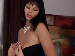 Latina with massive hooters and the elegant drilling for her pussy