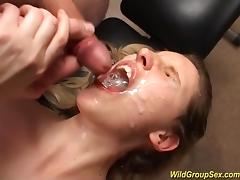 Bukkake, Banging, Bukkake, Cum in Mouth, Cumshot, Facial