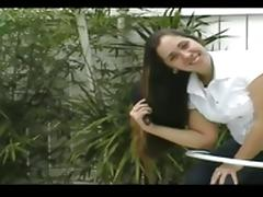 Donnette s Long Pantene Hair Brushing  Ponytails and Braids
