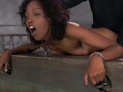 Black hottie called Lotus Lain getting her sweet pussy treated hard