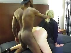 Young Black Stud makes Milf moan loud.
