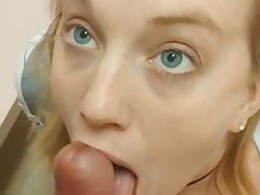 Dressing room Blowjob Interrupted