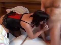 Lingerie, Amateur, Brunette, Cumshot, Fetish, German