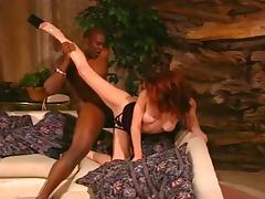 Redhead Gal Sucking & Fucking Black Guy