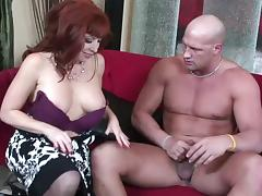 Busty redhead MILF is ready to be bonked like in the old times