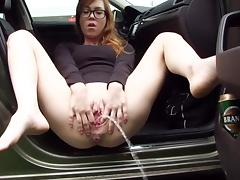 Car, Amateur, Car, Peeing, Pissing
