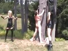 Two  Mistress s  Whipping  Slave