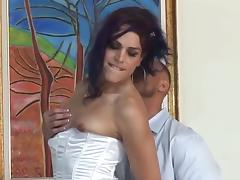 Gorgeous Crossdresser Gets His Cock Sucked