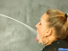 Euro bukakke babe cocksucking at gloryhole