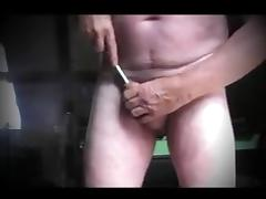 Man ladyboy sounding urethral and anal toy dildo