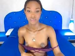 Ebony TS Nipples