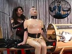 Latex Goddess Immobilises Her Subjects