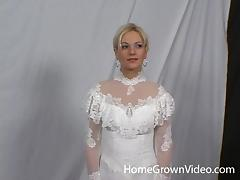 Bride, Babe, Blowjob, Bride, Couple, Cowgirl