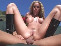 Horny pornstar Nicole Sheridan in exotic outdoor, blonde adult scene