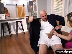 Sexy blonde babe nurse her patient's throbbing hard cock