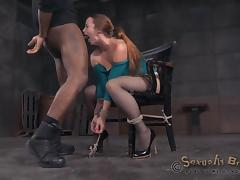 Bella Rossi with fine ass getting face fucking in BDSM