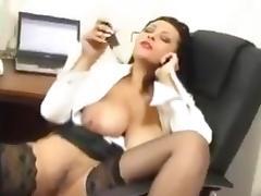 Secretary indulge at work