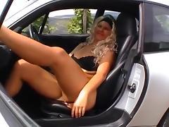 Car, Amateur, Blonde, Car, Fingering, Grinding