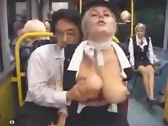 Air hostess groped