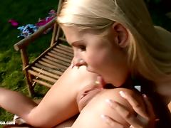 Ass Adventures with Nikitta and Rikki have lesbian anal fun