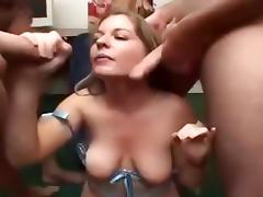 Bukkake, Blonde, Bukkake, College, Swallow, Cum Drinking