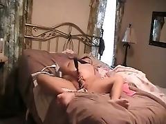 Mom caught. Masturbating on bed Hidden cam