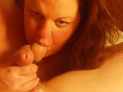 Beautiful BBW cocksucker