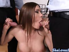 Busty eurobabe anally banged and jizzed on