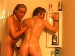 Horny Homemade movie with Shower, Strapon scenes