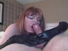 MATURE CD POV Deepthroating CUM