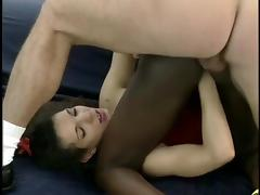 Black girl Fisted and DP'd by white couple.