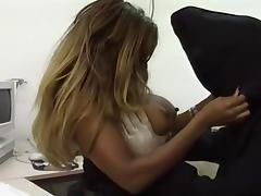 Black Horny Babe Fucks The Grim Reaper