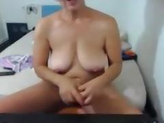 Old Granny Fucking Dildo