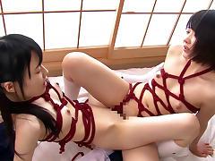 Asami Tsuchiya & Karen Haruki in Scissor Sisters Asami and Karen - JapansTiniest