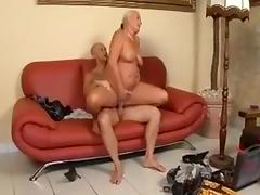 Busty chubby mature milf sucking hard cock and getting fucked roughly from horny man