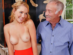 Beautiful Raylin Ann Sucks and Fucks Old Men