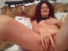 Hot mom masturbate on webcam