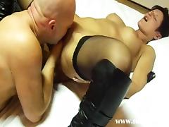 Hot milf fisted with a large brute that was bald