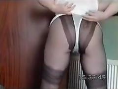 mom janet wears crotchless panties to please new BF