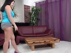 Brutal didlo insertion follows fun pee play