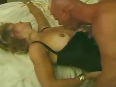 Hot blonde milf fucks in front of husband