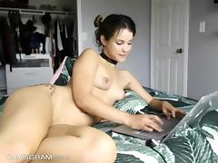 Adorable Teen Model Fucking Self On Cam