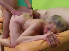Desperate granny seduced younger dude
