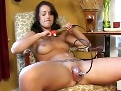 Horny Amateur video with Brunette, Toys scenes
