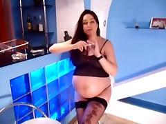 Pregnant Skank Smokes
