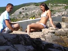 Urlaubsfick am Strand
